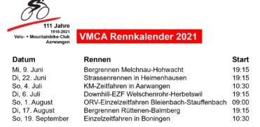 Mo, 31. Mai 2021 / Termine VMCA Radrennserie 2021